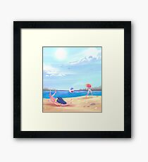 Splashes and Crashes Framed Print