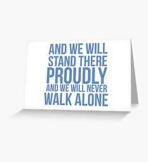 And we... Quote Square Greeting Card