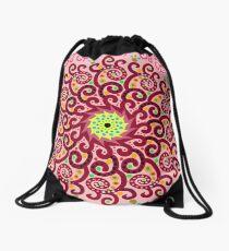 Jellyfish Maroon mandala Drawstring Bag