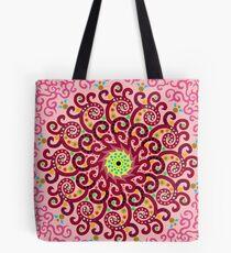 Jellyfish Maroon mandala Tote Bag