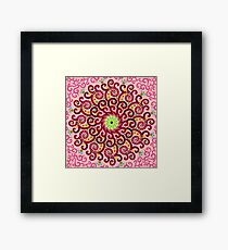Jellyfish Maroon mandala Framed Print