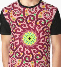 Jellyfish Maroon mandala Graphic T-Shirt