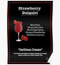 Erdbeer Daiquiri Cocktail Rezept Poster