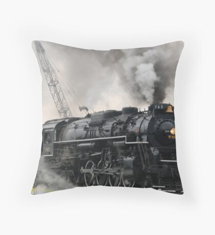 Smokey Train Throw Pillow