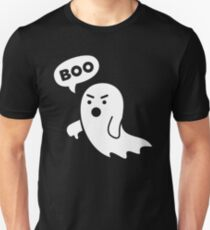 Disapproving Ghost heckling Boo! with thumbs down Slim Fit T-Shirt