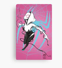 Spider-Gwen with Pink Background Canvas Print
