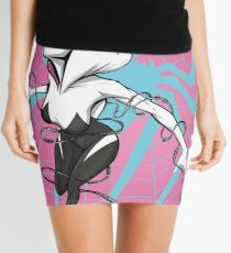 Spider-Gwen with Pink Background Mini Skirt