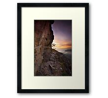 Impression encadrée : Sentier des Roches à l'aube