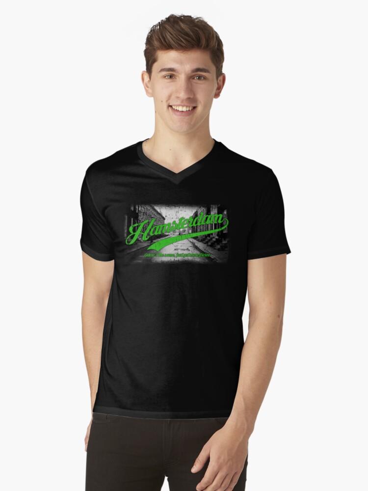 Hamsterdam - Cloud Nine Edition (Green) Mens V-Neck T-Shirt Front