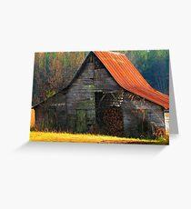 Charming Rural Barn Greeting Card