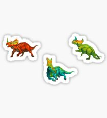 dinos all over - ceratopsians Sticker