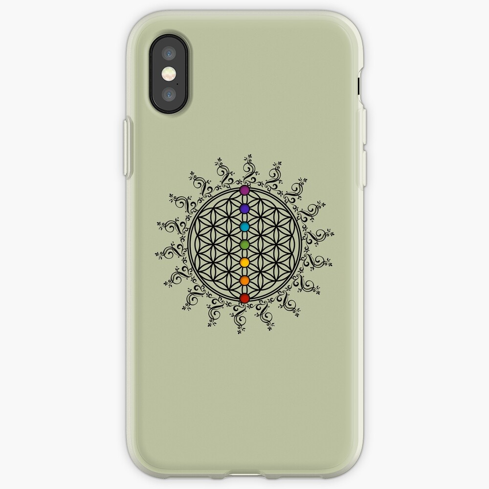 FLOWER OF LIFE, CHAKRAS, SPIRITUALITY, YOGA, ZEN, iPhone Case & Cover