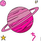 Saturn in the Pink - Stickers by Starzology