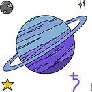 Saturn Feeling Blue - Stickers by Starzology
