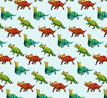 dinos all over - ceratopsians by thoughtsupnorth