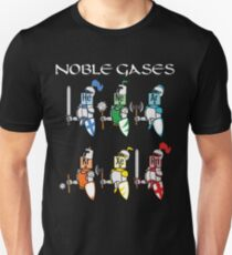 Funny Chemistry Medieval Science Noble Gases Knight Slim Fit T-Shirt
