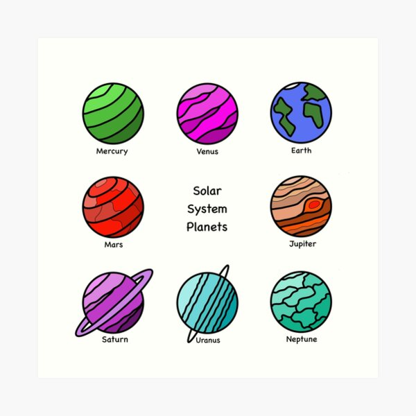 Solar System Planets - Super Eight Art Print