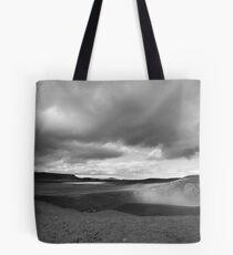 Viti Eruption Crater, Krafla, Mývatn, Iceland - Black & White Tote Bag