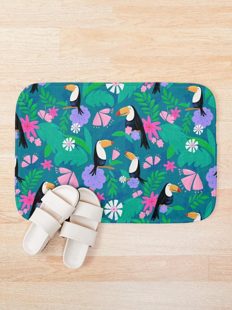Alternate view of Tropical Toucan Jungle Bath Mat