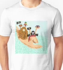 Snail Pirate Magrid And Silly Sally Parrot T-Shirt