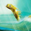 Happy Sea Monster by JenBargerIllys