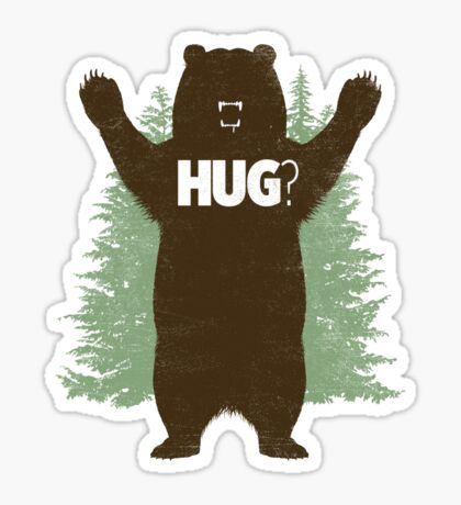 Bear Hug (Light) T-Shirt Sticker