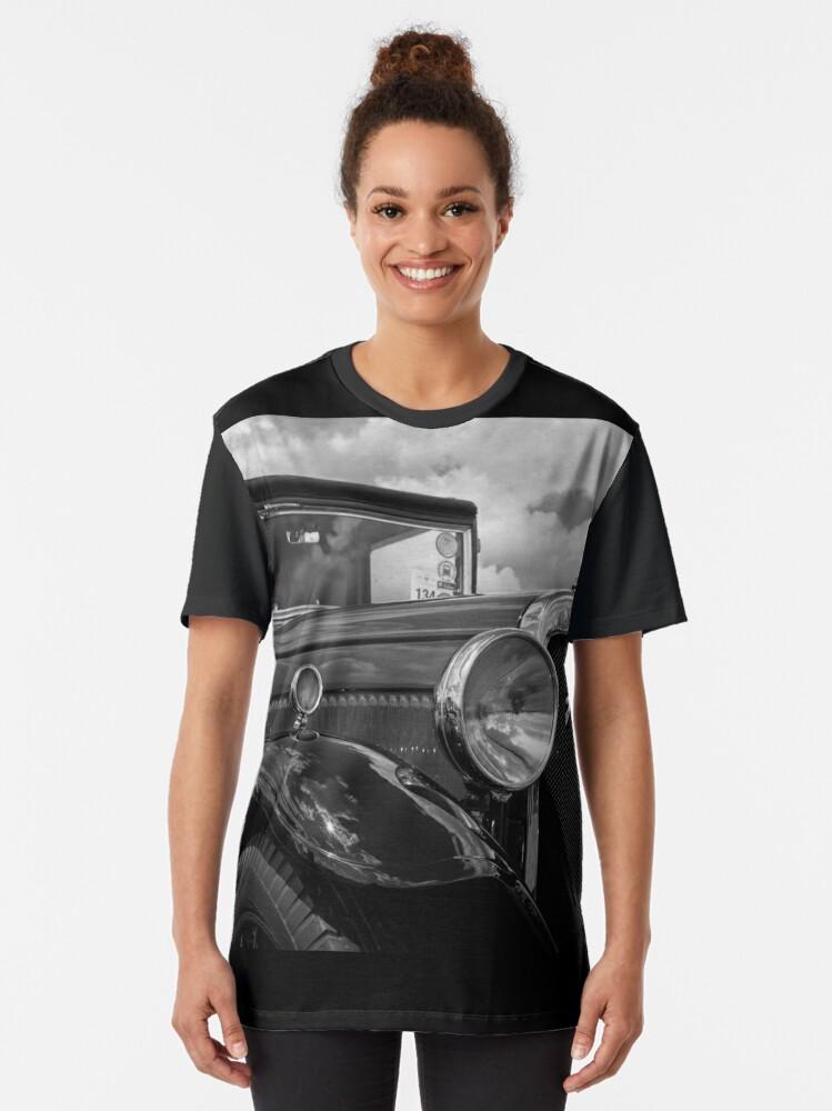 Alternate view of Austin Six Classic Vintage Motor Car Graphic T-Shirt