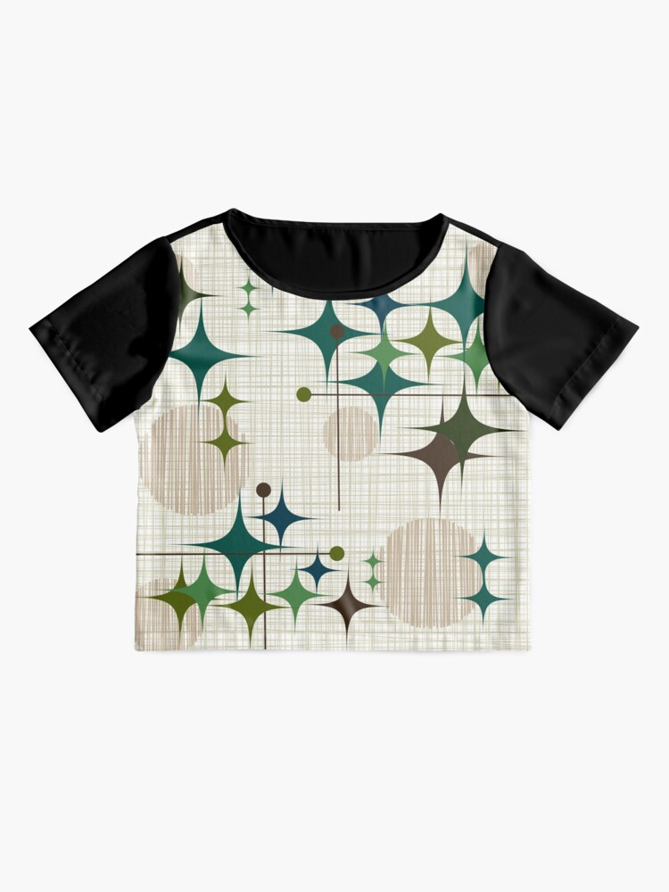 Alternate view of Eames Era Starbursts and Globes 1 (bkgrnd) Chiffon Top