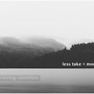 Less Take < More Make // Notebook & Journal by Joel Gibson