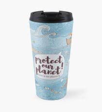 protect our planet Thermo mug Travel Mug