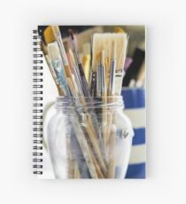 Brushes Spiral Notebook