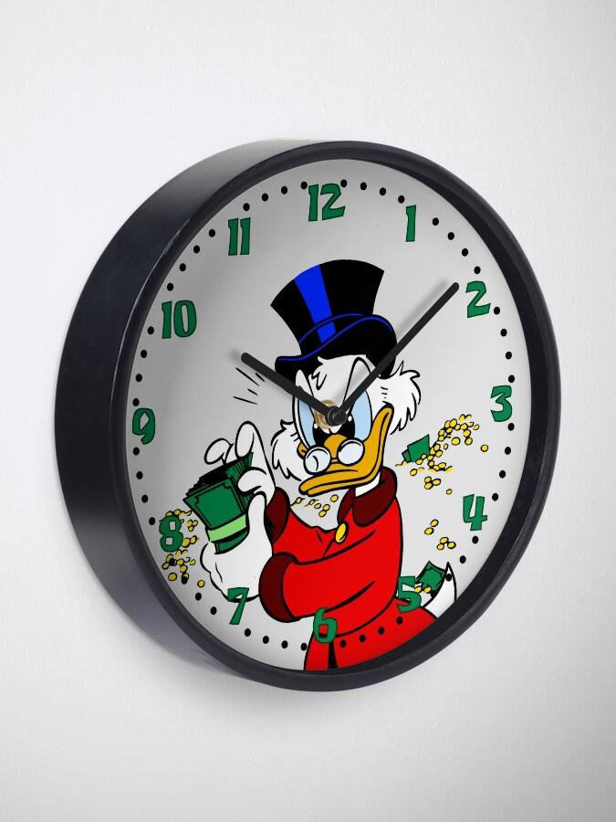 Alternate view of Scrooge McDuck Clock