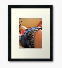 baby knee Framed Print