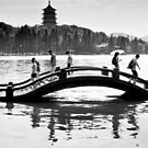 Floating on the water - Hangzhou, China by Norman Repacholi