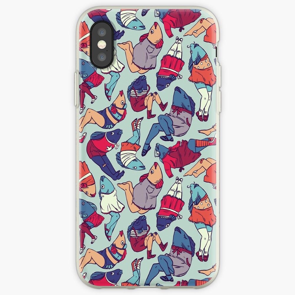 Peppy Frühling Legfish Muster (helle Komplementärfarben) iPhone-Hülle & Cover