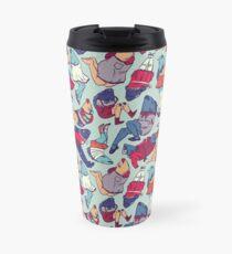 Peppy Springtime Legfish Pattern (Bright Complementaries) Travel Mug