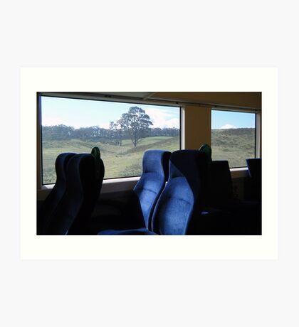 View from a speeding train Art Print