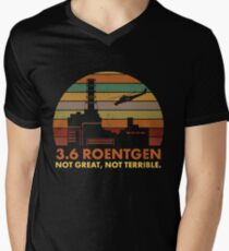 Camiseta de cuello en V 3.6 Roentgen No es genial, no es terrible La cita de la central nuclear de Chernobyl