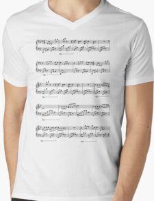 Sheet Music Style Mens V-Neck T-Shirt