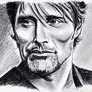 Mads Mikkelsen graphite by jos2507