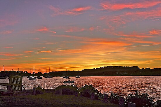 Rhode Island sunset by Nancy Richard