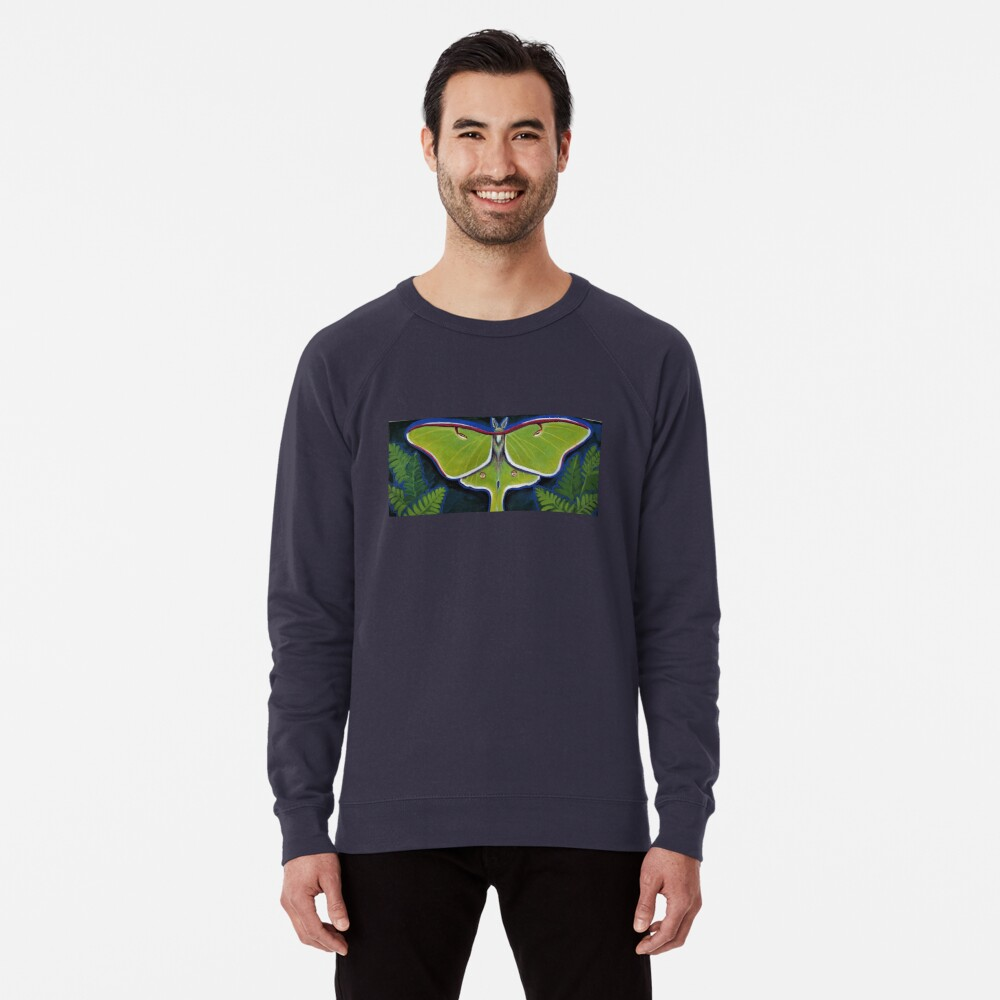 Luna Moth Lightweight Sweatshirt