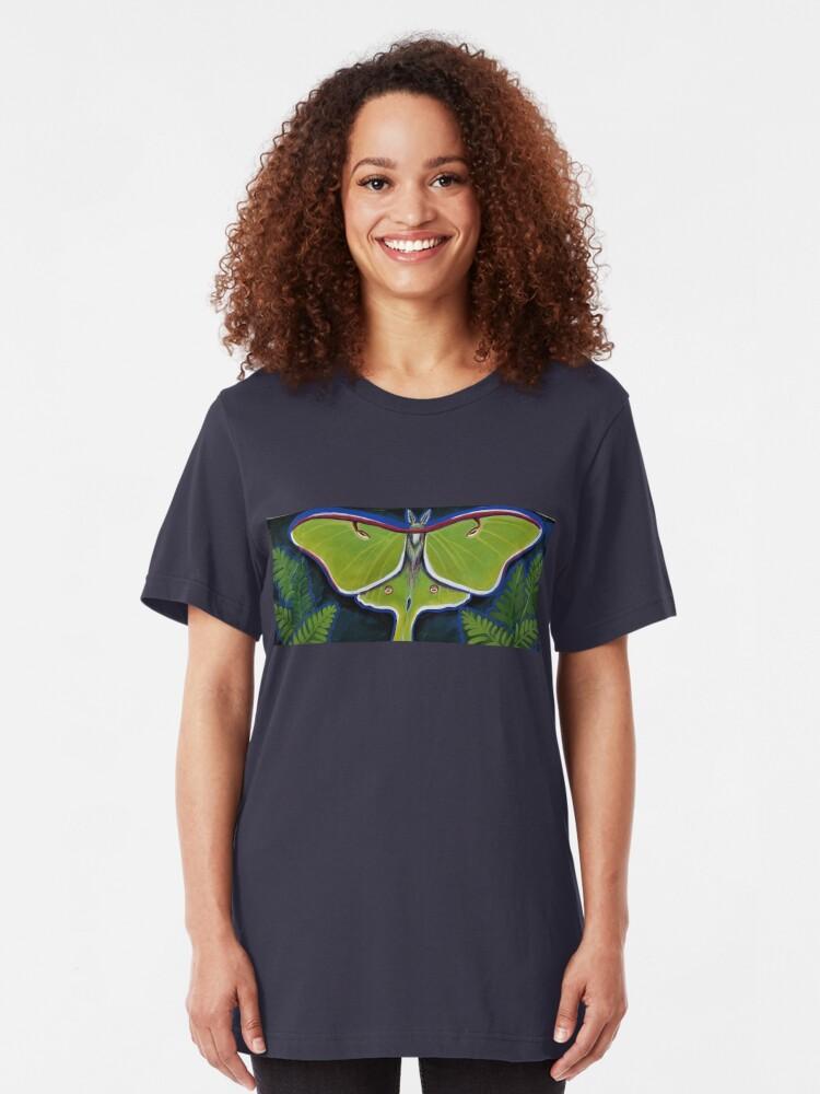 Alternate view of Luna Moth Slim Fit T-Shirt