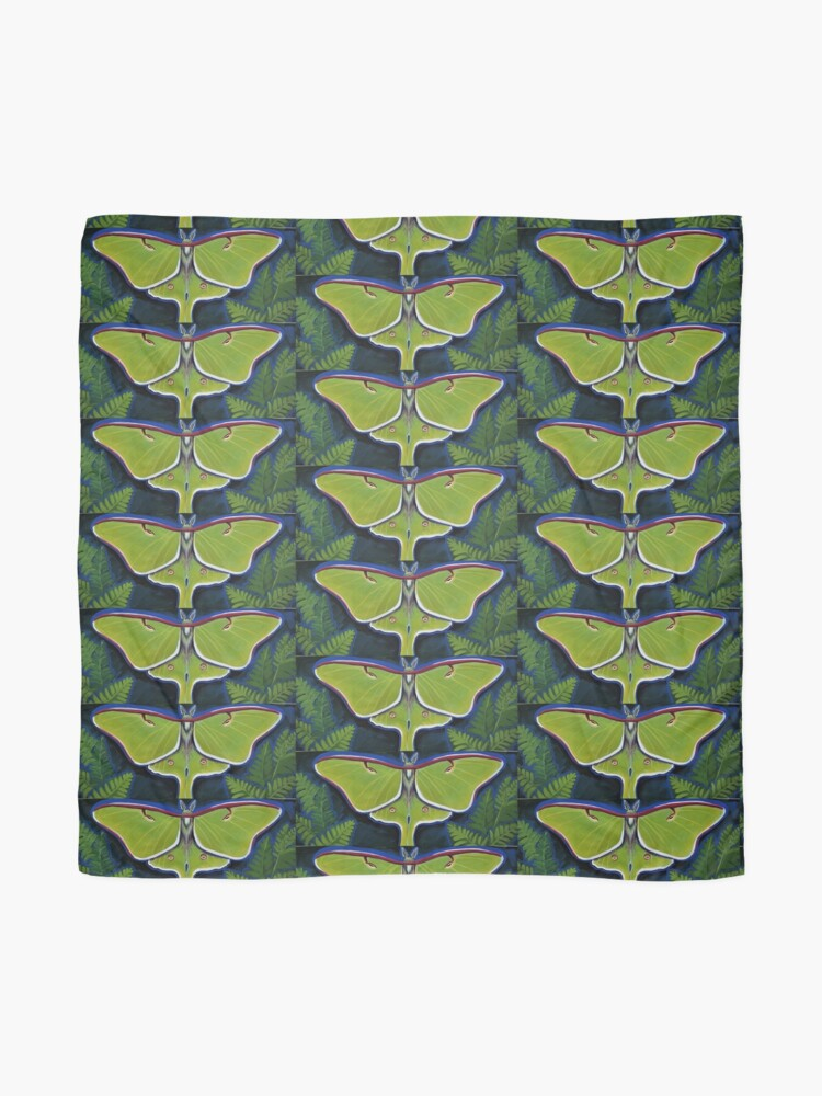 Alternate view of Luna Moth Scarf