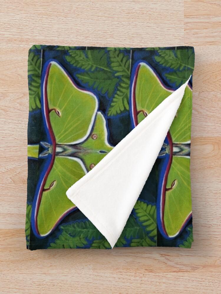 Alternate view of Luna Moth Throw Blanket