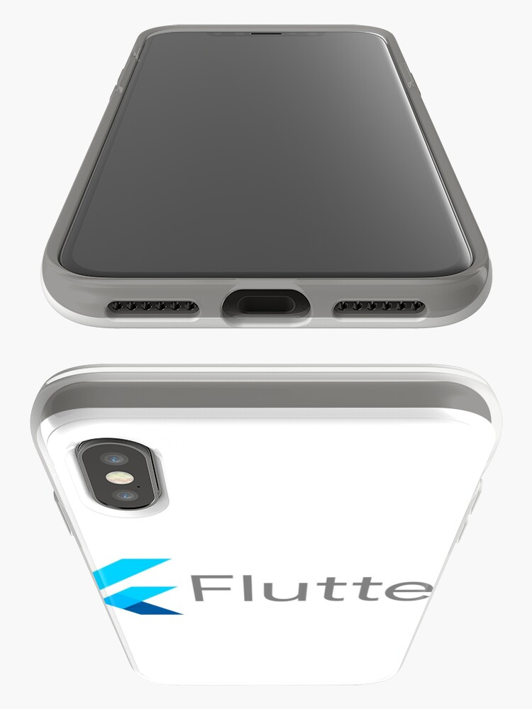 Alternative Ansicht von Flutter-Programmier-Framework iPhone-Hüllen & Cover