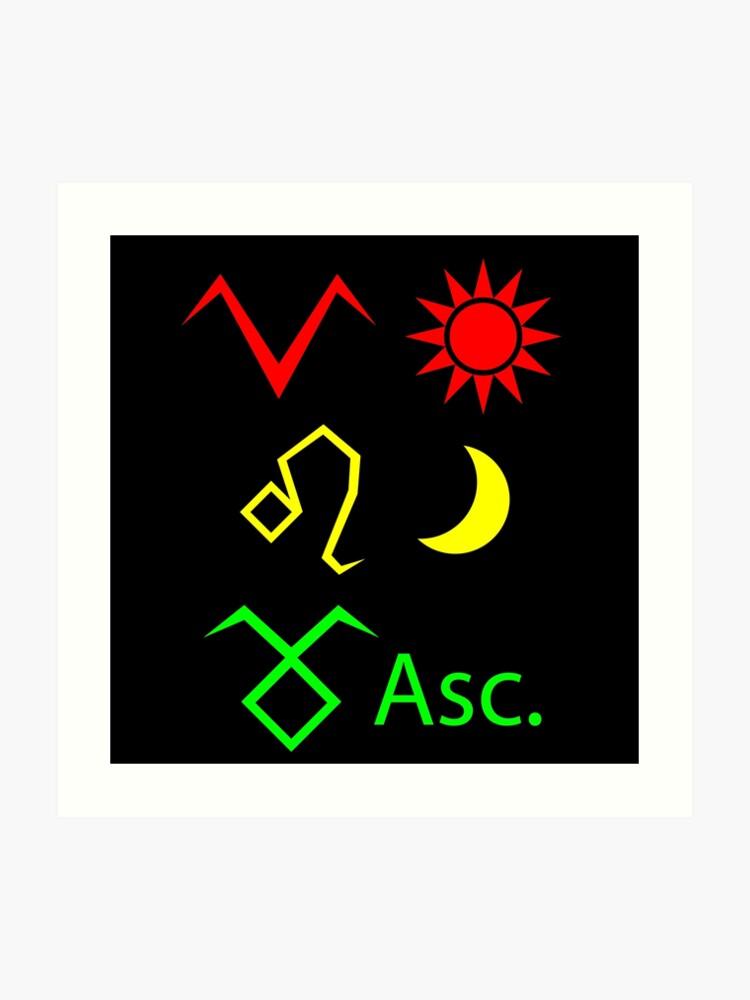 Aries Sun, Leo Moon, Taurus Ascendant   Art Print