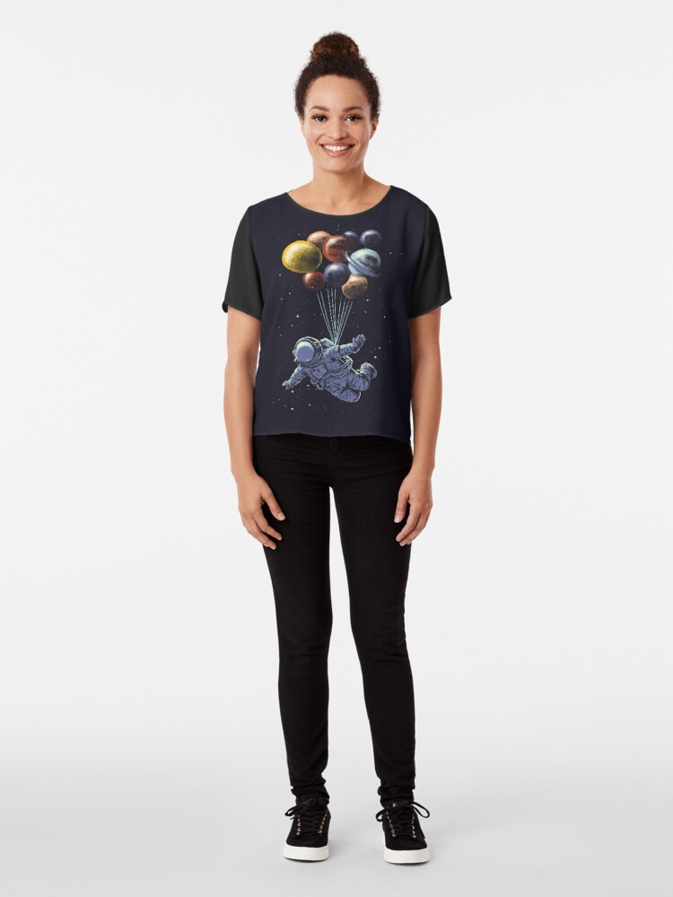 Alternate view of Space Travel Chiffon Top