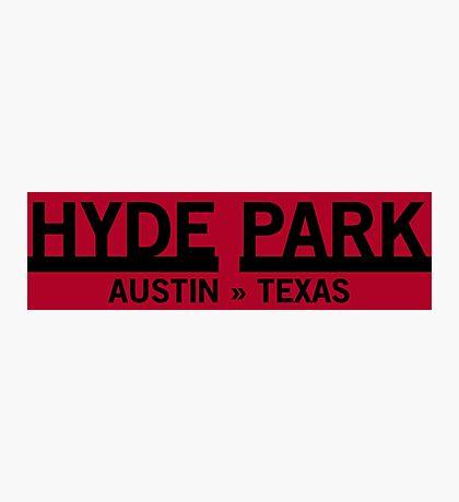 Hyde Park - Austin, Texas Photographic Print