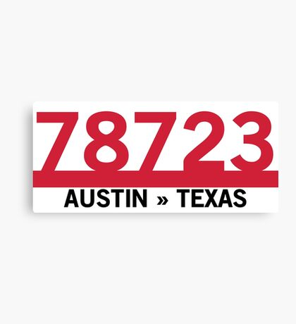 78723 - Austin, Texas ZIP Code Canvas Print